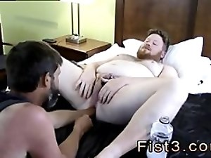 His first big cock gay sex movietures Sky Works Brock's Hole with his Fist