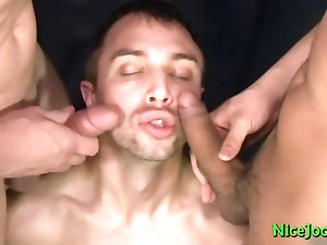 Amazing jock gay threesome