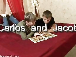 Jacob and Carlos hot gay action in hardcore