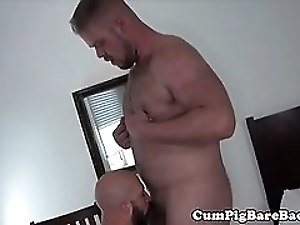 Hairy stud assfucked by bears fat dong