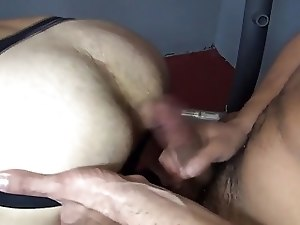 Bareback - Hungry Bottom Gym Fuck